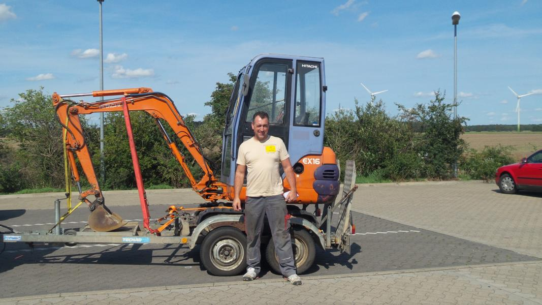 Minibagger 0,8t Mieten in Herne